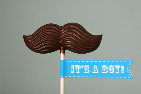 Moustache Lollipop Baby Shower favour