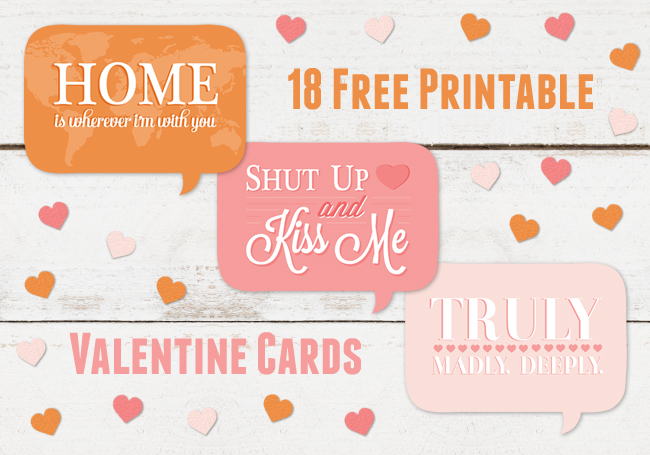 Free Valentines Day Printables hootinvitationsau – Free Printable Valentine Cards for Husband