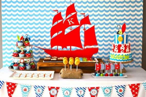 Pirate Party candy Buffet Lolly table