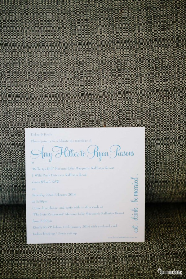Eat Drink Be Married Invitation